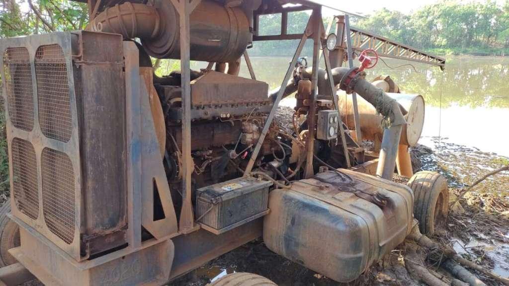 Denúncia leva PM Ambiental de Pirassununga até possível capitação irregular de água em represa
