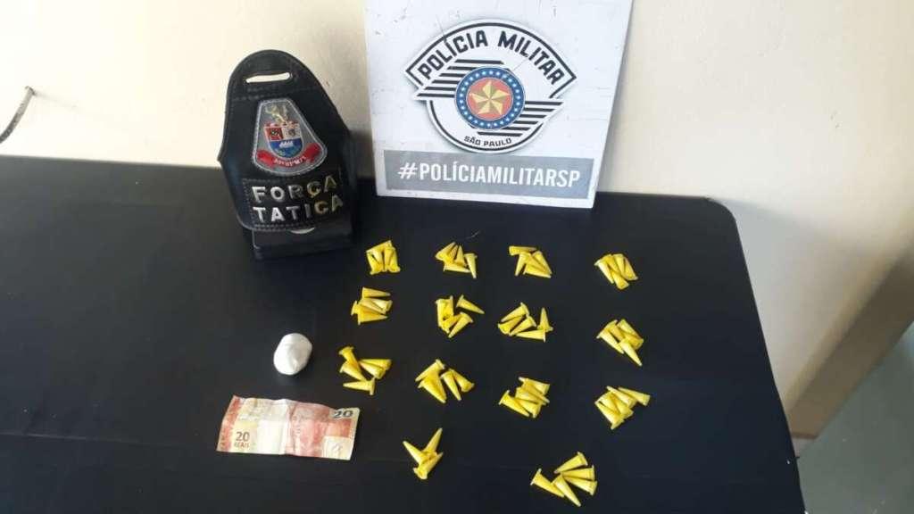 Força Tática de Polícia Militar prende dois por tráfico de drogas