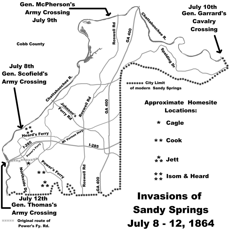 Civil War occupation followed Chattahoochee river crossing