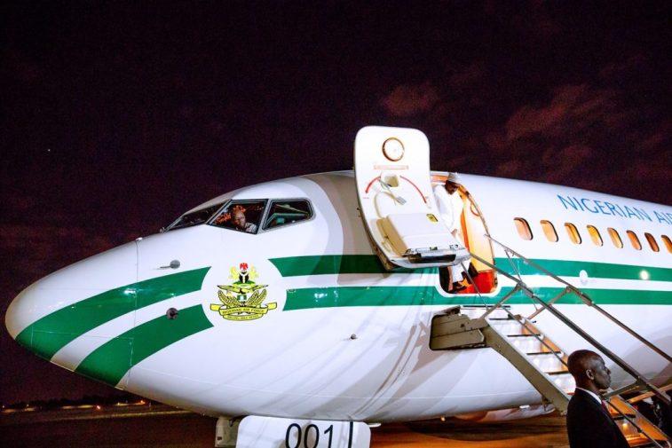 Buhari arriving South Africa
