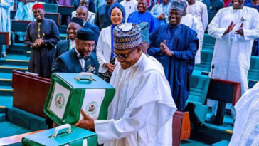 Buhari at the national assembly
