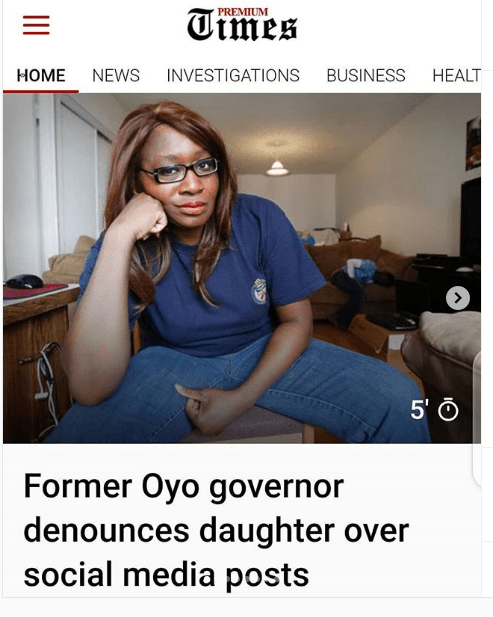 Kemi Olunloyo Explains Family Feud, Premium Times Unprofessional Role