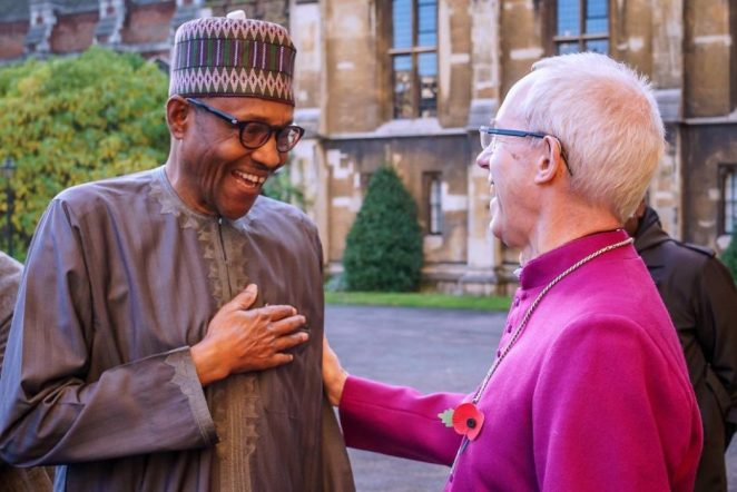President Buhari Pictured With Archbishop Of Canterbury, Justin Welby ,