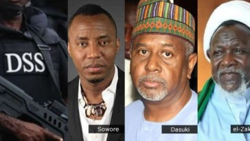 Sowore, Dasuki And El-Zakzaky Opted For DSS Custody Instead Of Prison - DSS