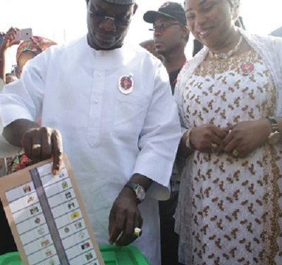 Kogi Election: Governor Yahaya Bello, Wife Vote