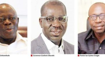 War In Edo: Gov. Obaseki, APC In Showdown With Oshiomhole Over Ize-Iyamu