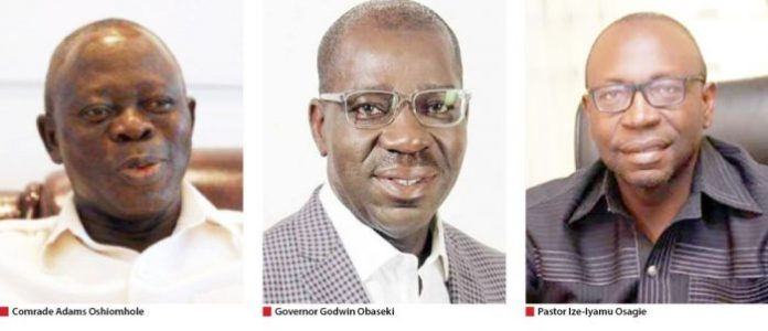 War In Edo: Gov. Obaseki, APC In Showdown With Oshiomhole Over Ize-Iyamu