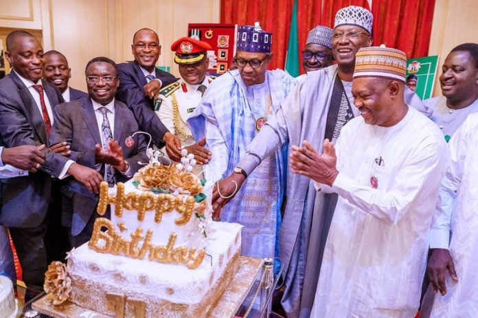 Photos: President Buhari Celebrates 77th Birthday In State House