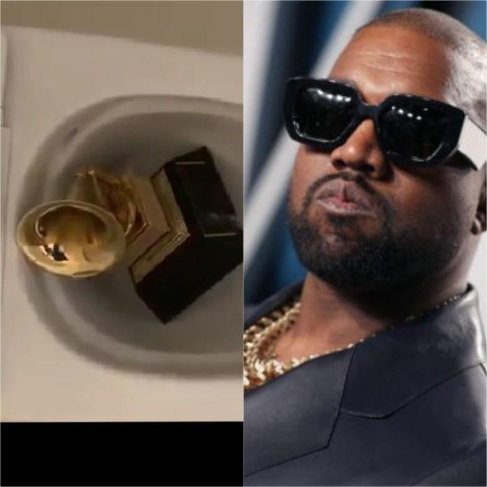 Kanye West Urinates On His Grammy Award, Then Tweets More Attacks At Universal Music (Tweet/Video)
