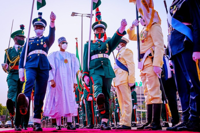 NIGERIA: President Buhari, VP Osinbajo, Etc At The 2021 Armed Forces Remembrance Day Celebration (Photos)