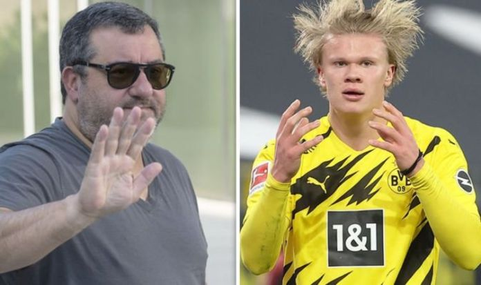 Mino Raiola Set To Scupper Erling Haaland Transfer Plans