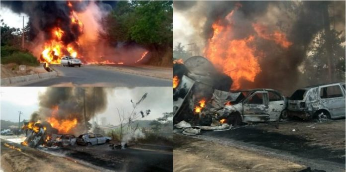 3 Burnt To Death, Vehicles Razed, As Fuel Tanker Explodes In Ogun
