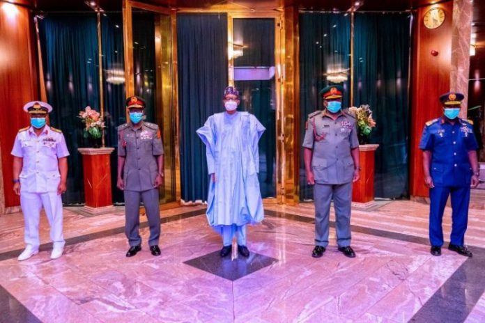 Buhari Requests Confirmation Of Service Chiefs, Sends Notification to Senate