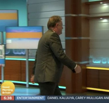 Watch Piers Morgan Storm Off Live TV Set as co-presenter calls him out for constant attack Of Meghan Markle (video)