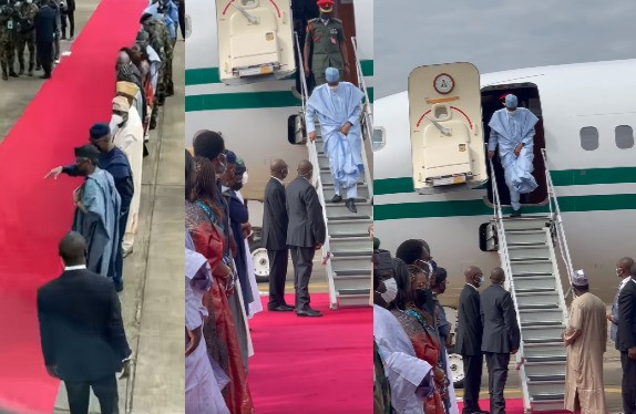President Buhari arrives Lagos for commissioning of projects