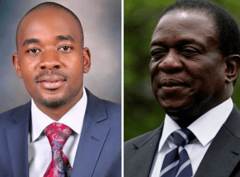 MDC-T President Nelson Chamisa and Emmerson Mnangagwa