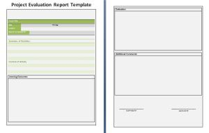 Project Evaluation Report Template
