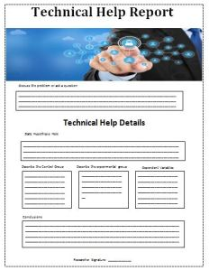 Technical Help Report Template