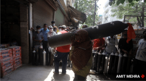 For lack of oxygen, units making oxygen cylinders shut down