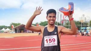 Football's loss, athletics' gain: Amlan Borgohain bags 200m title with a record-breaking run