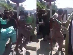 Watch: Taliban brutally flogs a man in public for allegedly stealing a mobile phone