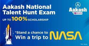 Aakash National Talent Hunt Exam (ANTHE 2021) – your chance to win 100% scholarship and a trip to NASA