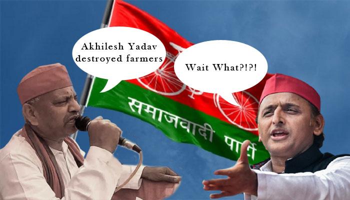 'Akhilesh Yadav destroyed farmers', Samajwadi Party leader makes a faux pas in robotic speech: Watch
