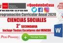 PROGRAMACIÓN CURRICULAR ANUAL 2020: CIENCIAS SOCIALES 2° SECUNDARIA [WORD] – Incluye Textos Escolares del MINEDU [PDF]