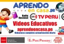 APRENDO EN CASA: Videos Educativos [Actualización diaria]