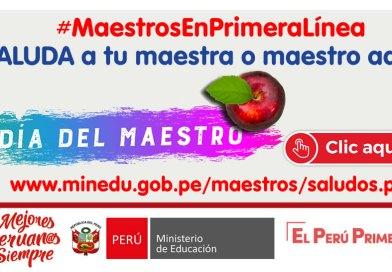 SALUDA a tu maestra o maestro aquí, #MaestrosEnPrimeraLínea