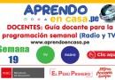 DOCENTES: Guía docente para la programación SEMANA 19 (Radio y TV) [APRENDO EN CASA][Del 10 al 14 de agosto de 2020]