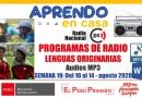 PROGRAMAS RADIALES EN LENGUAS ORIGINARIAS: Sesiones y Audios [Semana 19: Del 10 al 14 de agosto de 2020]
