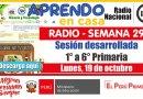 SESIÓN RADIAL DESARROLLADA (Adaptada para el estudiante) – Lunes 19 de octubre de 2020 (Ciencia y tecnología) – [PRIMARIA: 1° a 6°][Descargar aquí]