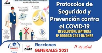 ELECCIONES GENERALES 2021: Conoce los Protocolos de Seguridad y Prevención contra el COVID-19 [Resolución Jefatural Nº 000039-2021-JN/ONPE]