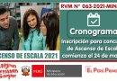 ASCENSO DE ESCALA 2021 – CRONOGRAMA: INSCRIPCIÓN ÚNICA para participar en el Concurso Público para el Ascenso de Escala de los Profesores comienza el 24 de marzo de 2021 (RVM N° 063-2021-MINEDU)