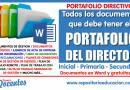 PORTAFOLIO DIRECTIVO: Modelos de todos los documentos que debe tener el portafolio del director de una Institución Educativa (Inicial – Primaria – Secundaria)[Gratuitos y editables][Ver aquí]