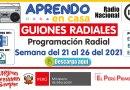 GUIONES RADIALES (Programación Radial): Semana del 21 al 26 de junio del 2021 [Guiones en Word y Audios en mp3]