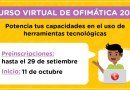Curso virtual sincrónico de OFIMÁTICA 2021, Preinscripción de participantes hasta el 29 de setiembre de 2021 [PerúEduca]