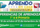 EXPERIENCIA DE APRENDIZAJE N° 9 (1° a 6° PRIMARIA) – Del 18 de octubre al 12 de noviembre de 2021 [Modelo referencial]