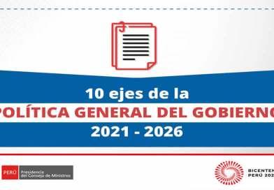 Aprueban POLÍTICA GENERAL del Gobierno de Pedro Castillo (2021-2026)