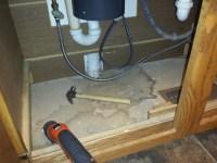 Replacing the Wood Floor Under The Kitchen Sink ...