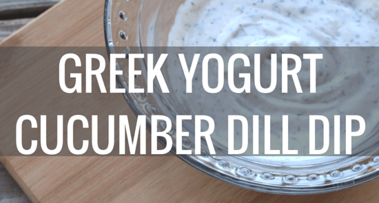 greek yogurt cucumber dill dip