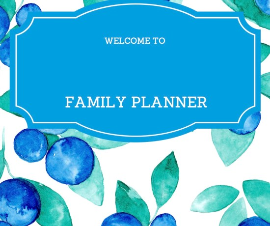FREE PRINTABLE: Family Planner