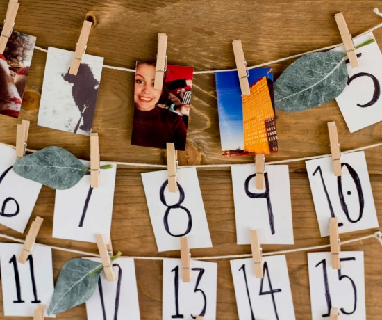 Easy and affordable DIY photo Advent Calendar