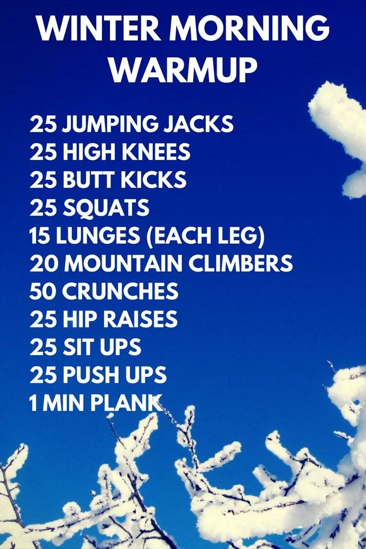 Winter Morning Workout Plan