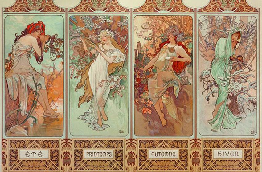 art nouveau reproductions de tableaux