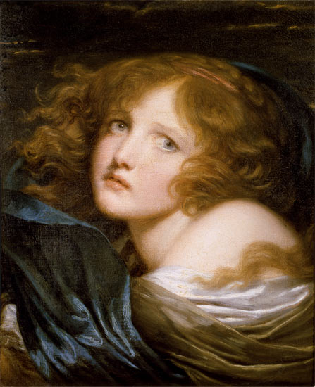 Jean Baptiste Greuze - Head and Shoulders of a Young Woman