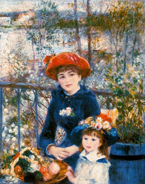 Sur La Terrasse Pierre Auguste Renoir