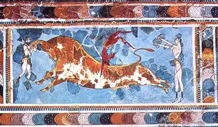 Fresco del palacio de Knosos.