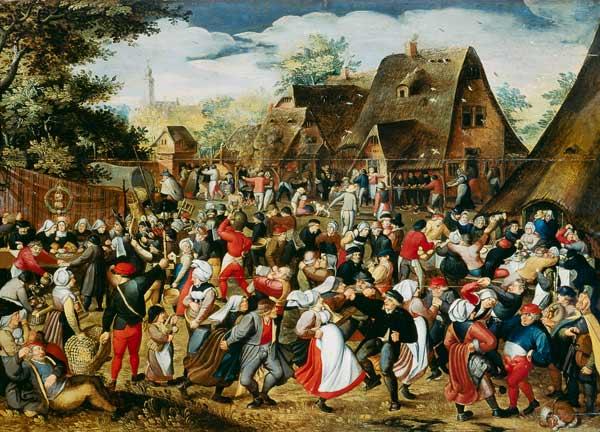 The Village Festival  Pieter Brueghel d J